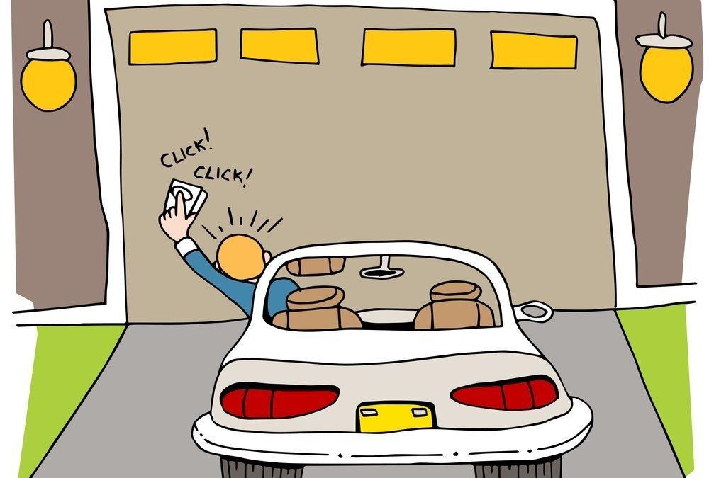 stuck garage door cartoon