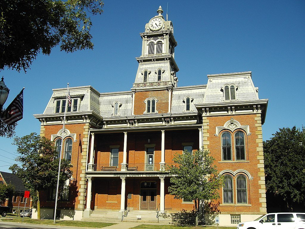 The historic courthouse in Medina Ohio