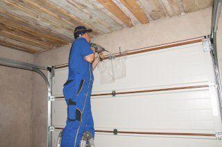 Garage Door Repair on New Home in Medina