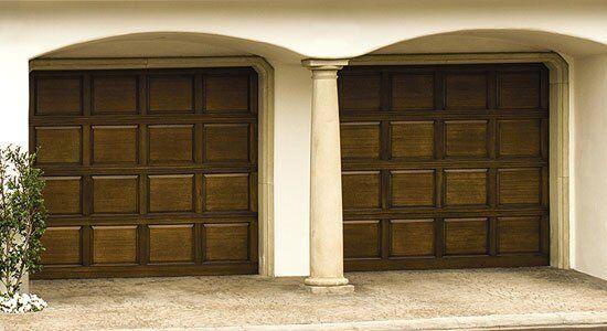 Raised Panel Wood Garage Door